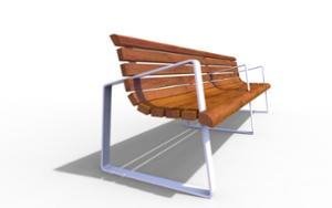 street furniture, seating, wood backrest, armrest, wood seating