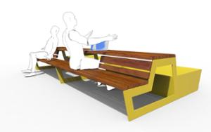 street furniture, ławki miejskie, planter, wood, picnic set, bench, seating, wood seating, table
