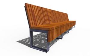 street furniture, ławki miejskie, seating, modular, wood backrest, wood seating
