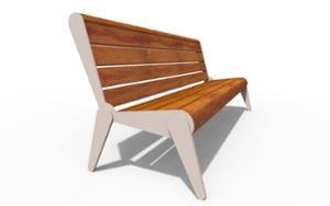 street furniture, seating, wood backrest, wood seating, vintage