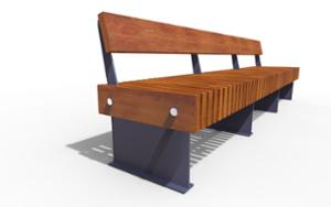 street furniture, ławki miejskie, vertical planks, horizontal planks, double-sided , seating, modular, wood backrest, wood seating