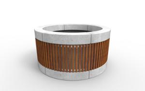 street furniture, ławki miejskie, concrete, smooth concrete, planter, wood, modular, curved