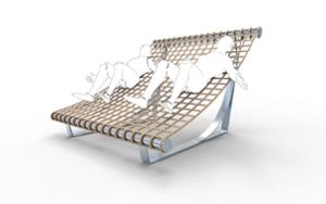 street furniture, ławki miejskie, hammock, other, bench, seating, chaise longue, modular