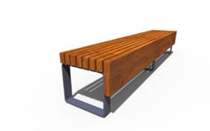 street furniture, vertical planks, bench, wood seating