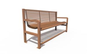 street furniture, ławki miejskie, for elderly people, seating, steel backrest, armrest, steel seating