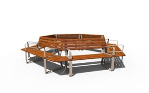 street furniture, ławki miejskie, aluminium, seating, for warsaw, modular, odlew aluminiowy, wood backrest, armrest, curved, wood seating