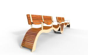 street furniture, ławki miejskie, for elderly people, seating, modular, wood seating, high backrest
