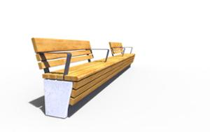 street furniture, ławki miejskie, concrete, smooth concrete, seating, modular, wall top, wood backrest, wood seating