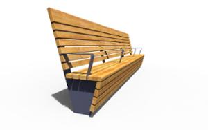 street furniture, ławki miejskie, seating, modular, wood backrest, wood seating, high backrest