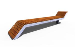 street furniture, concrete, smooth concrete, bench, seating, chaise longue