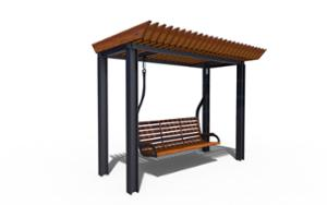 street furniture, ławki miejskie, swing, other, seating, pergola