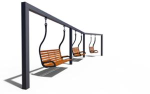 street furniture, ławki miejskie, swing, other, for single person, seating