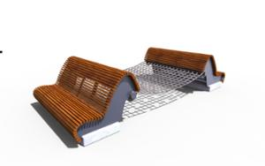 street furniture, ławki miejskie, hammock, other, seating, chaise longue, modular, high backrest