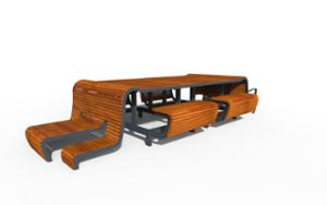 street furniture, ławki miejskie, other, picnic set, bench, seating, wood backrest, wood seating, table