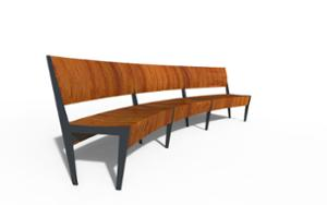 street furniture, ławki miejskie, price per metre, length measured on longer side, seating, modular, curved, wood seating