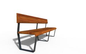 street furniture, ławki miejskie, attached to wall, seating, wood backrest, wood seating