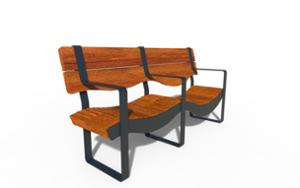 street furniture, ławki miejskie, horizontal planks, seating, wood backrest, wood seating