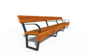 street furniture, ławki miejskie, seating, modular, wood backrest, wood seating, vintage