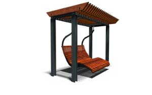 street furniture, community library, swing, other, seating, chaise longue, pergola, high backrest