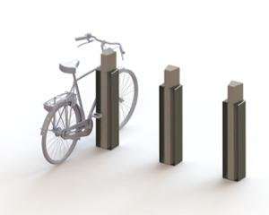 street furniture, ławki miejskie, concrete, smooth concrete, corten, bicycle stand, cycle rack, bollard