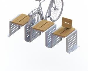 street furniture, ławki miejskie, bench, seating, modular, wood backrest, curved, wood seating