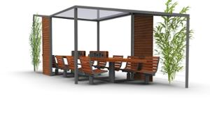 street furniture, ławki miejskie, 230v and/or usb socket, other, induction/qi charger, rotatable, pergola, table, canopy